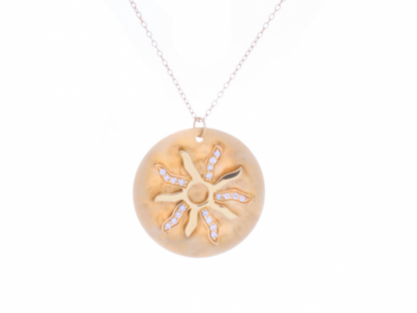 sand dollar starburst summer necklace hammered