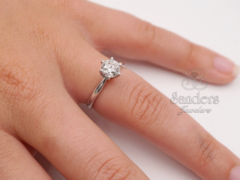 Bridal Jewelry - Diamond Solitaire Engagement Ring - image 3