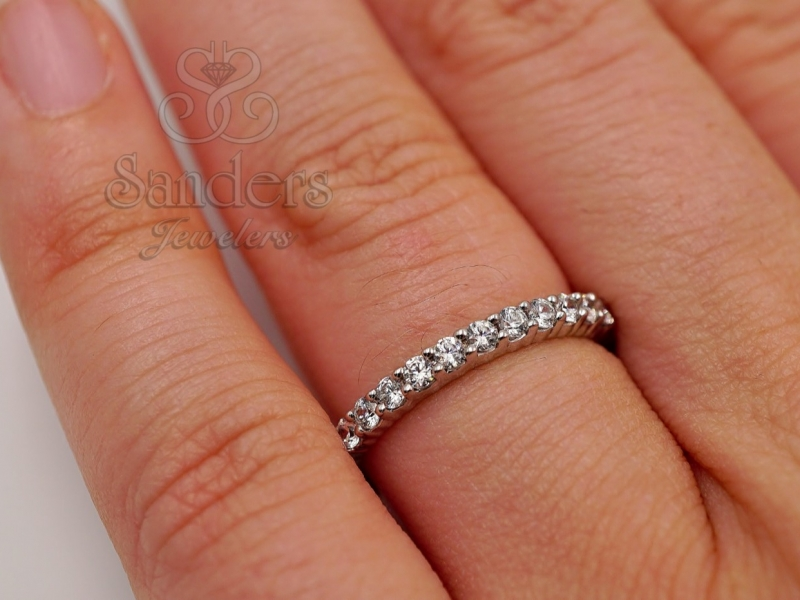 Bridal Jewelry - Diamond Eternity Band - image #3