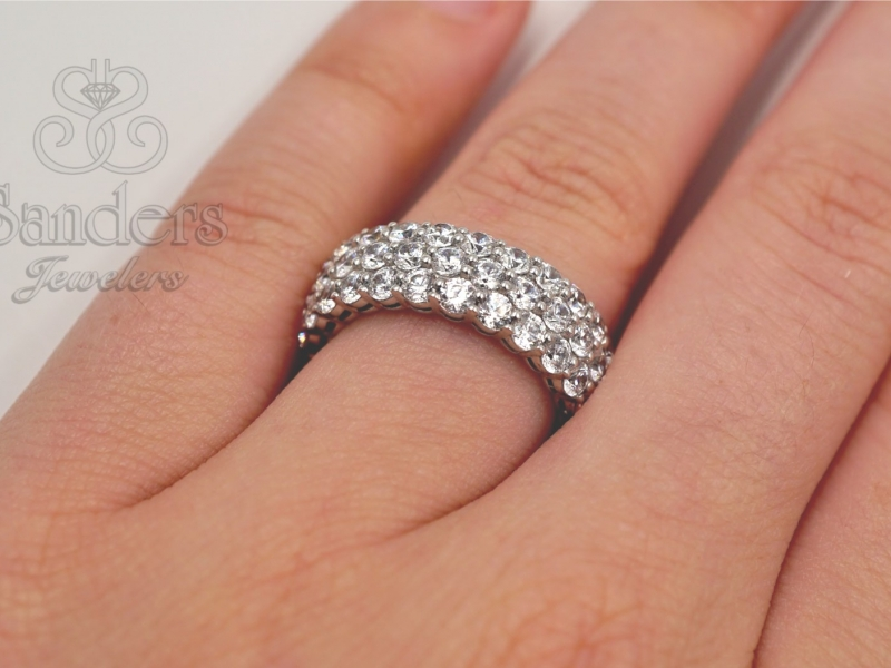 Bridal Jewelry - Diamond Eternity Band - image #5