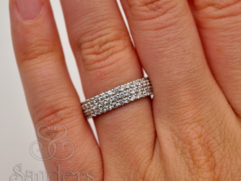 Bridal Jewelry - Diamond Eternity Band - image 5