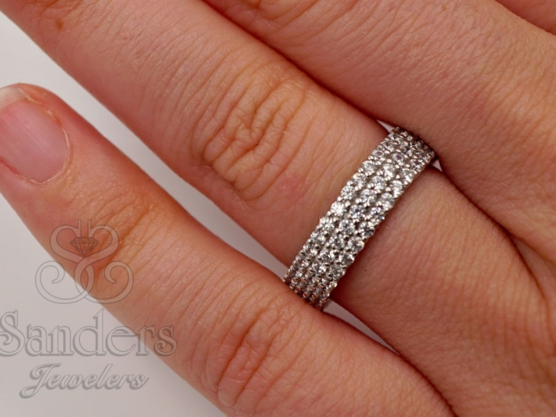 Bridal Jewelry - Diamond Eternity Band - image 3