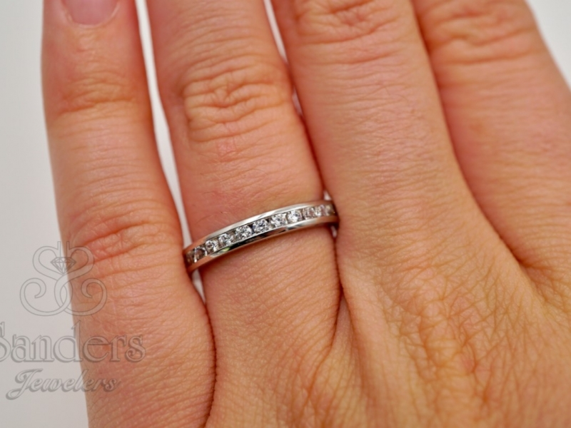 Bridal Jewelry - Diamond Eternity Band - image 2