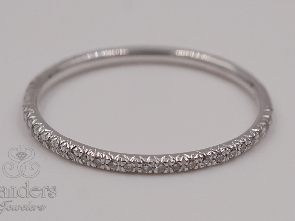 Bridal Jewelry - Delicate Diamond Band