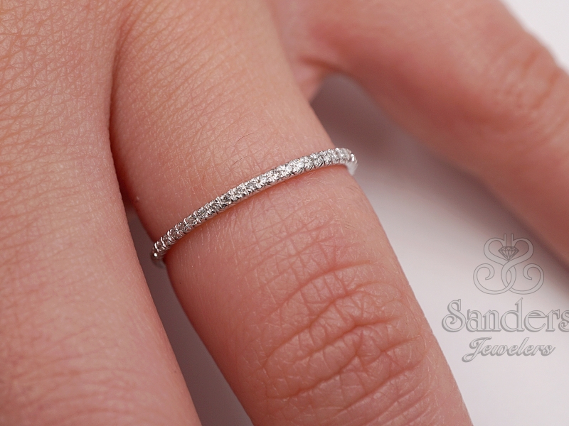 Bridal Jewelry - Delicate Diamond Band - image #3