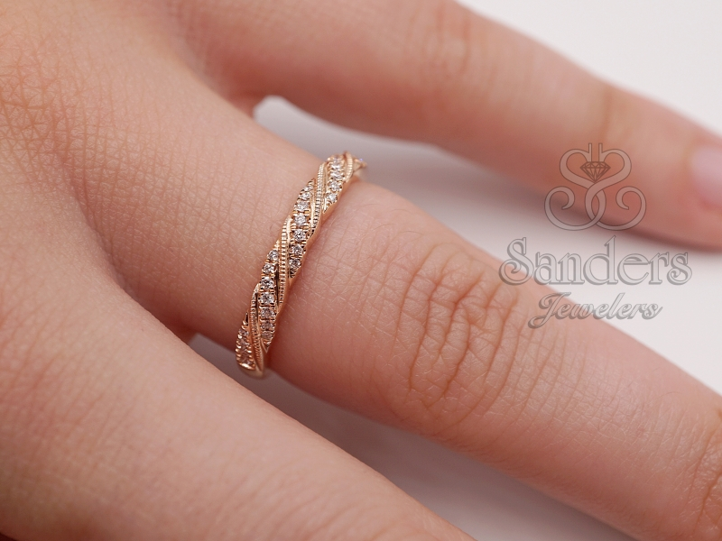 Rings - Diamond Stacker Band - image 2