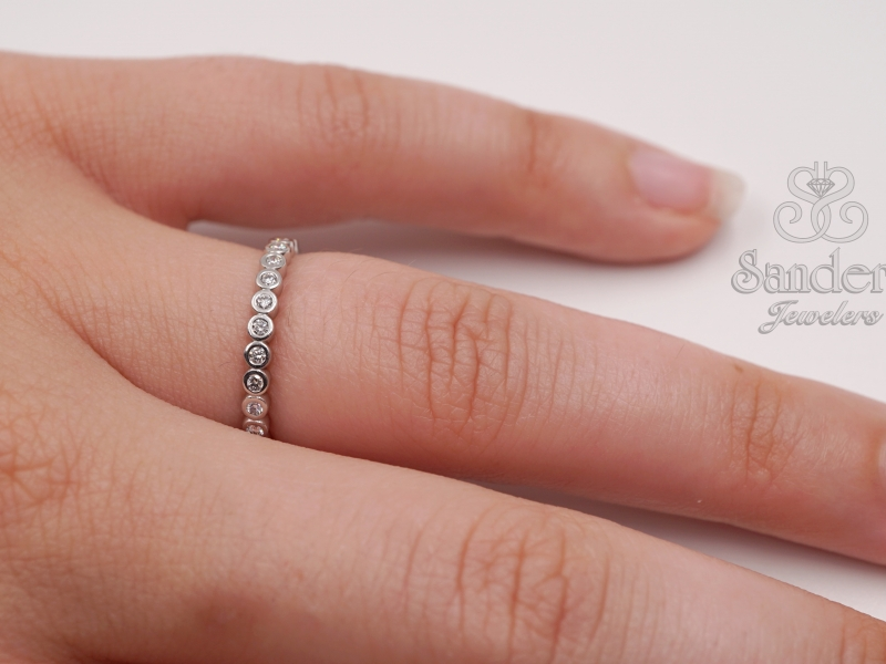 Bridal Jewelry - Custom Diamond Wedding Band - image #3