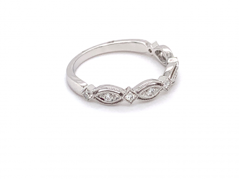 Rings - Stackable Diamond Band - image #2