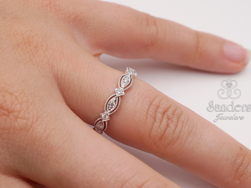 Rings - Stackable Diamond Band - image #3