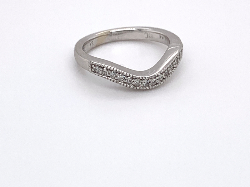Bridal Jewelry - Contoured Diamond Band - image #2