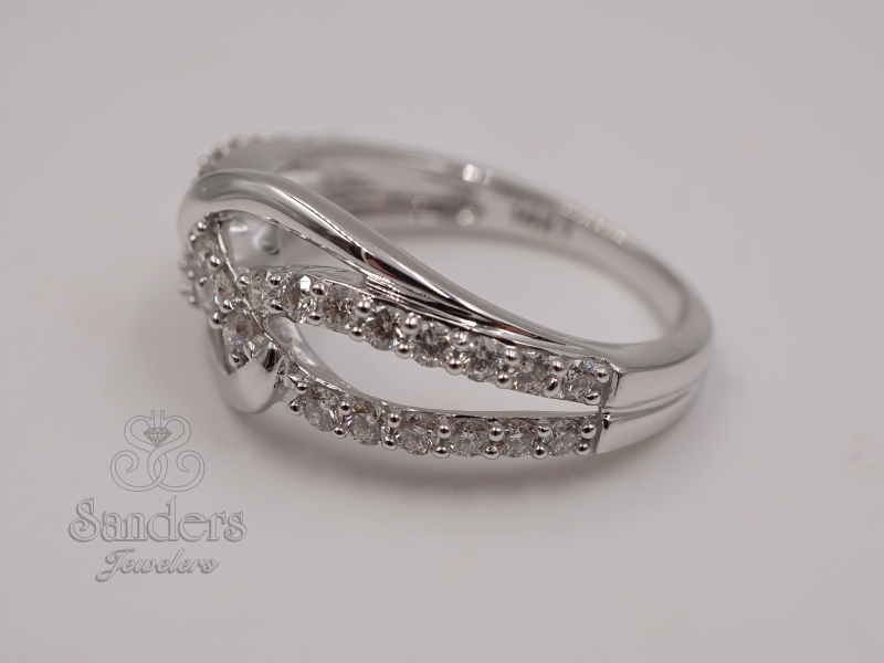 Rings - Interlocking Diamond Fashion Ring - image #2