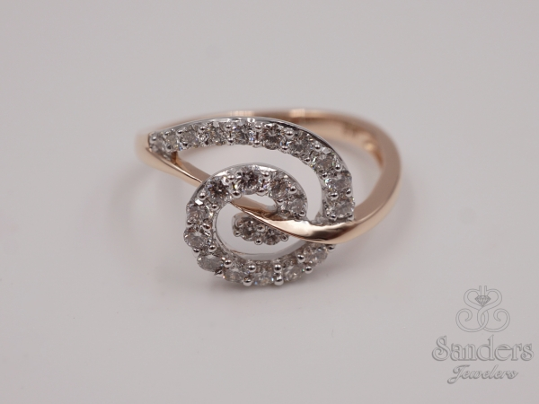 Rings - Swirling Diamond Fashion Ring