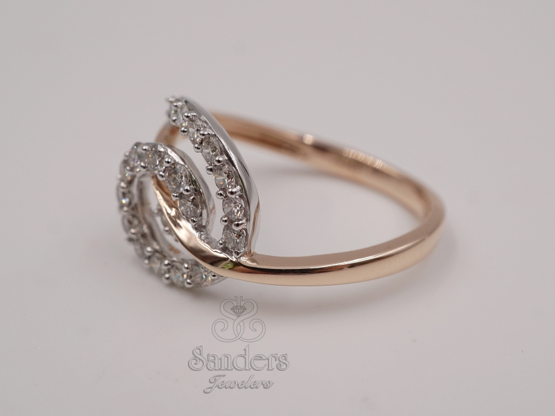 Rings - Swirling Diamond Fashion Ring - image #2