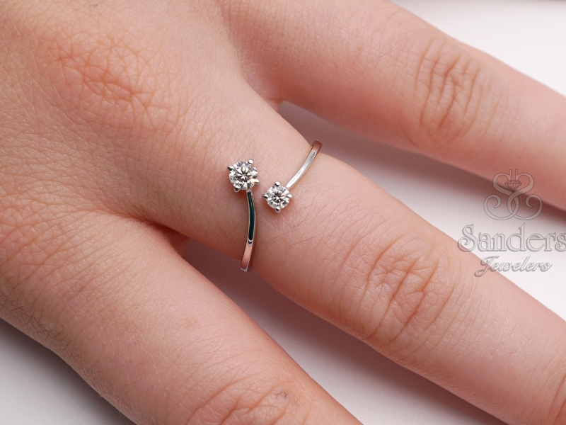 Rings - Diamond Bypass Ring - image #2