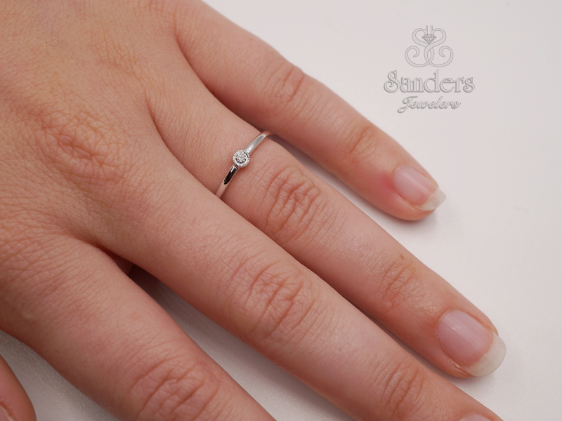 Rings - Diamond Stacker Ring - image #2