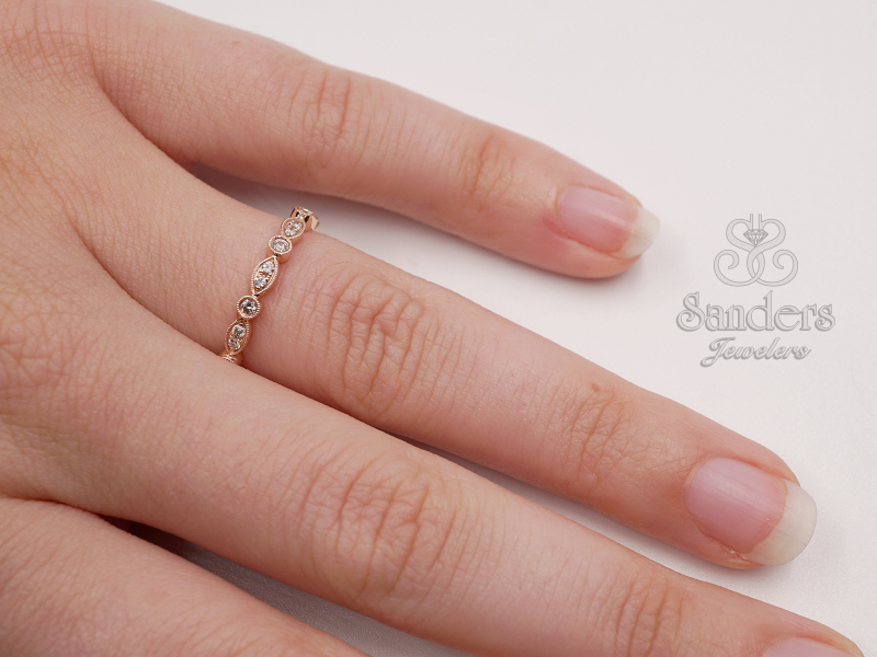 Rings - Diamond Stacker Band - image #3