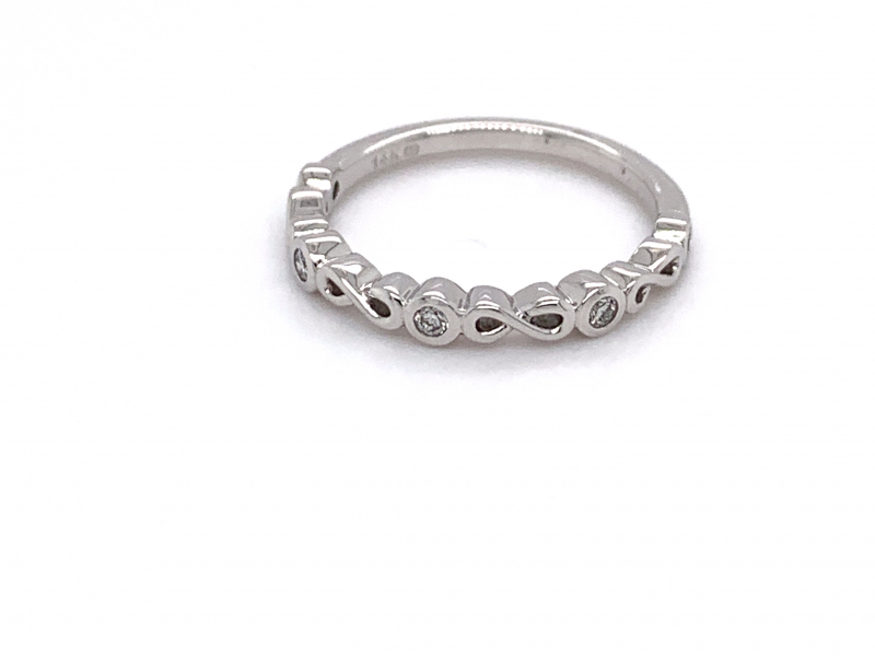 Rings - Diamond Infinity Stacker Ring