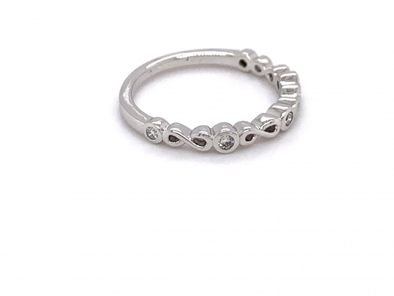 Rings - Diamond Infinity Stacker Ring - image #2