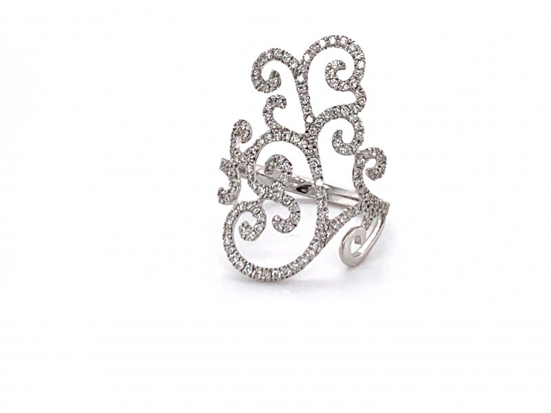 Rings - Filigree Diamond Cocktail Ring