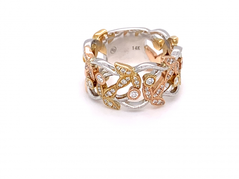Rings - Wide Multi-Tone Fashion Ring