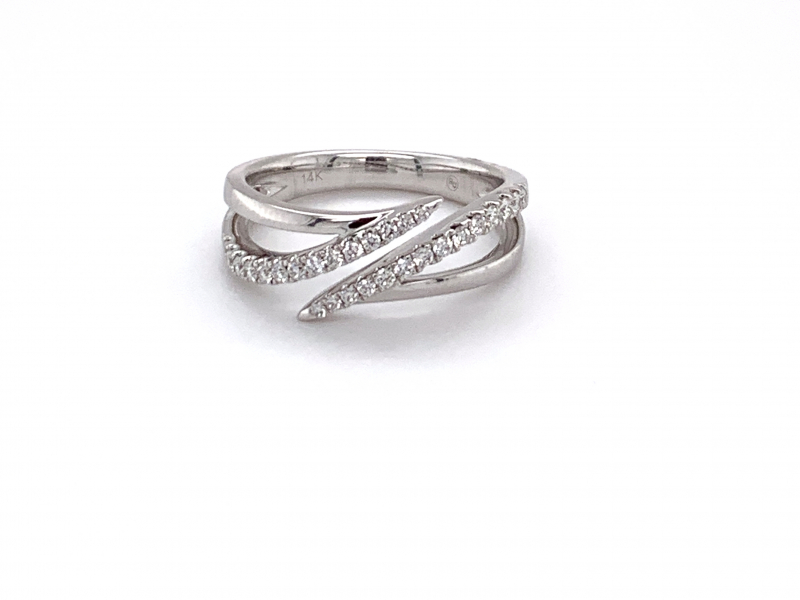 Rings - Bypass Diamond Fashion Ring