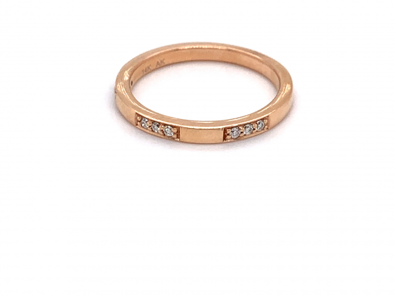 Bridal Jewelry - Rose Gold Diamond Station Band
