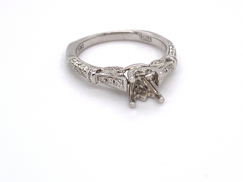 Bridal Jewelry - Vintage Inspired Princess Cut Engagement Ring - image 2
