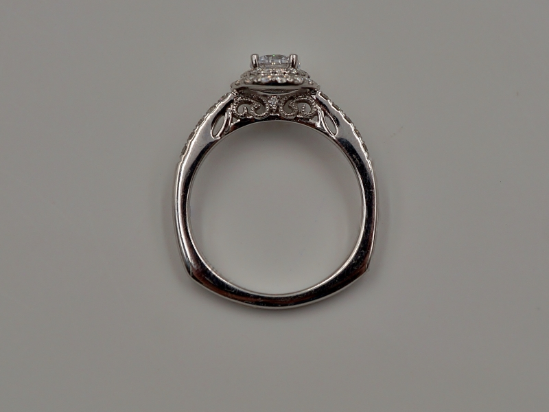 Bridal Jewelry - Double Halo Diamond Engagement Ring - image #3