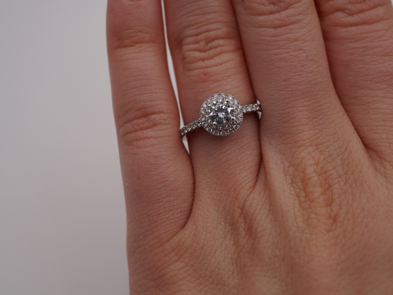 Bridal Jewelry - Double Halo Diamond Engagement Ring - image #5