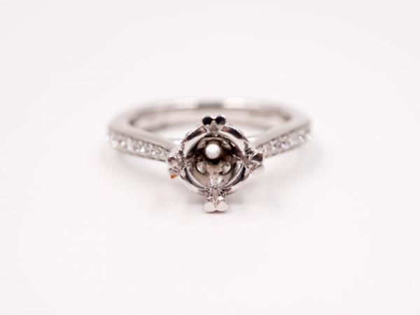 Bridal Jewelry - Elegant Diamond Accented Engagement Ring