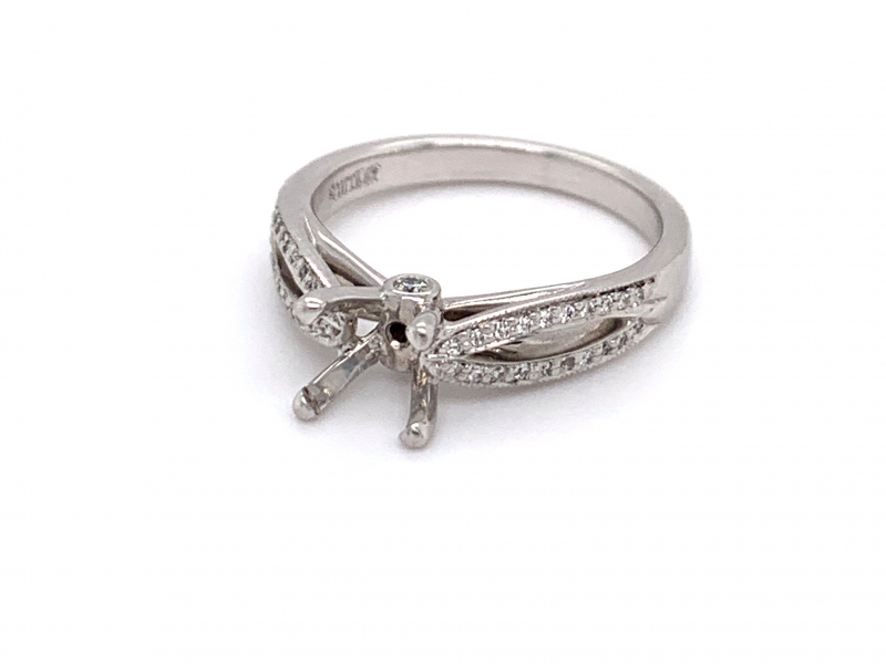 Bridal Jewelry - Ribbon Shank Engagement Ring
