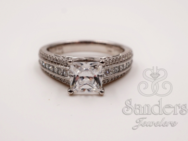 Bridal Jewelry - Modern Princess Cut Diamond Engagement Ring
