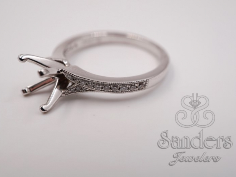 Bridal Jewelry - Subtle Split Shank Engagement Ring - image #2