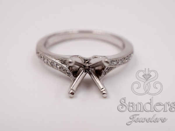 Bridal Jewelry - Subtle Split Shank Engagement Ring