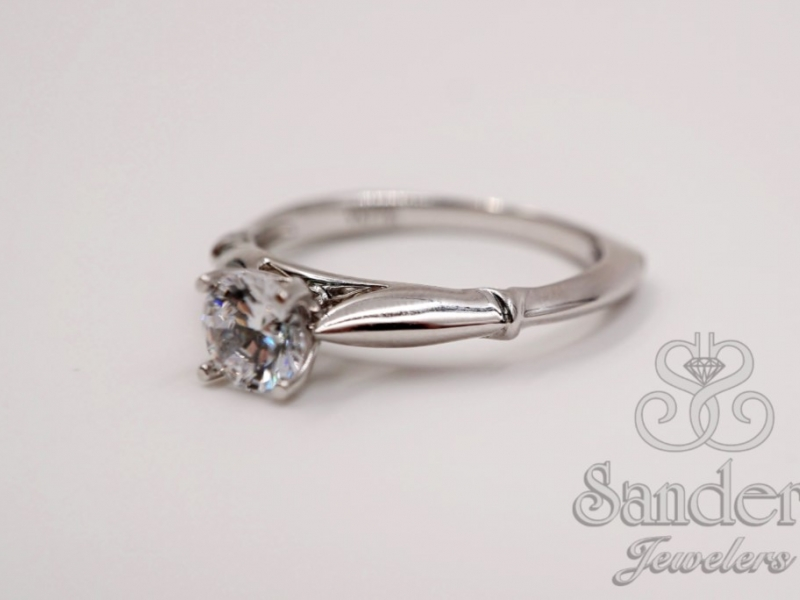 Bridal Jewelry - Solitaire Engagement Ring  - image #2
