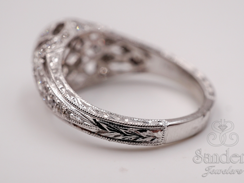 Bridal Jewelry - Bezel Set Engagement Ring  - image #3