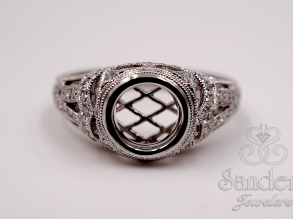 Bridal Jewelry - Bezel Set Engagement Ring