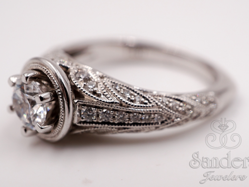 Bridal Jewelry - Vintage Engagement Ring - image #2