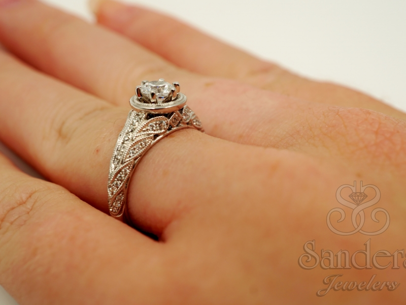 Bridal Jewelry - Vintage Engagement Ring - image #4