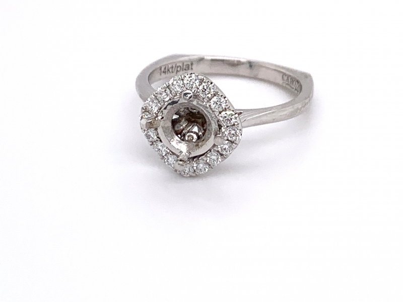 Bridal Jewelry - Sideways Cushion Diamond Engagement Ring