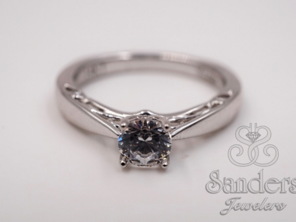 Bridal Jewelry - Filigree Diamond Engagement Ring