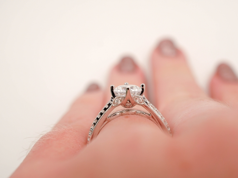 Bridal Jewelry - East to West Diamond Engagement Ring - image #5