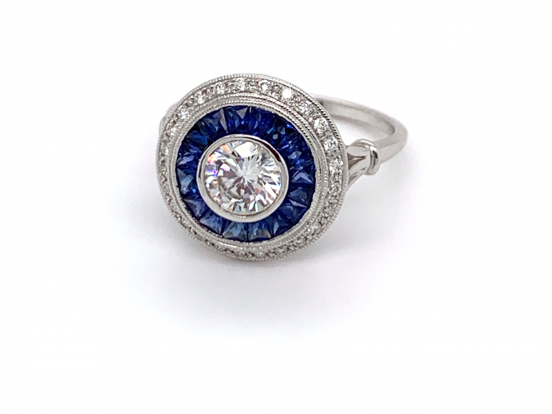 Rings - Diamond and Sapphire Semi-Mount Ring