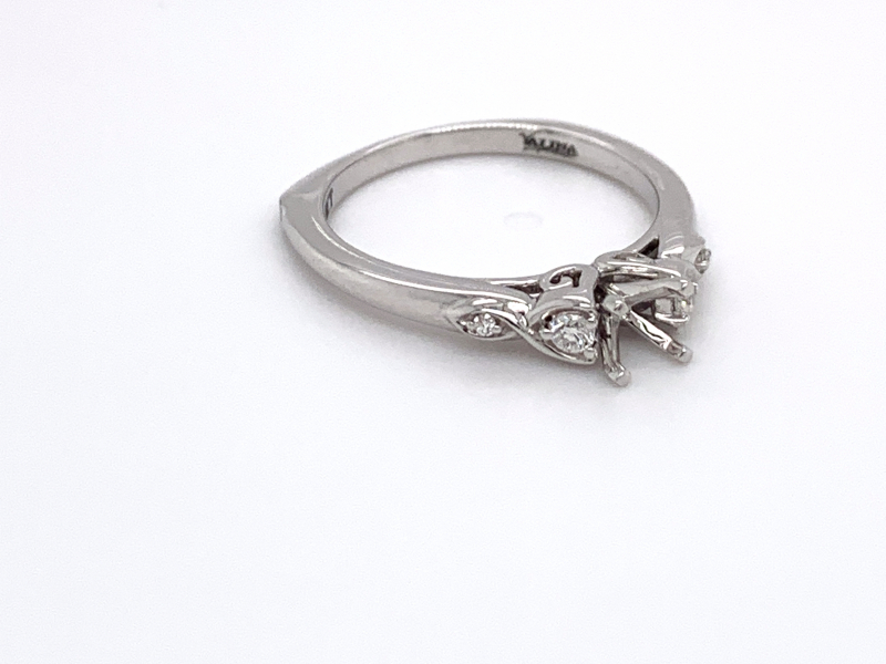 Bridal Jewelry - Crossover Diamond Engagement Ring - image #2