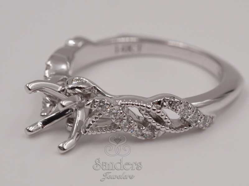 Bridal Jewelry - Swirling Diamond Engagement Ring - image #2