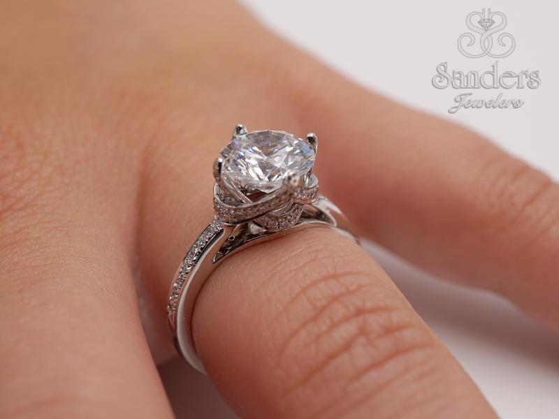 Bridal Jewelry - Crowned Diamond Engagement Ring - image #4