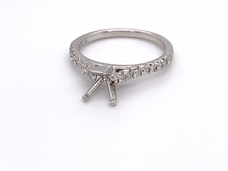 Bridal Jewelry - French Pave Diamond Engagement Ring