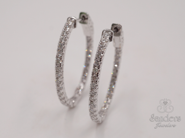 Earrings - Inside-Out Diamond Hoops