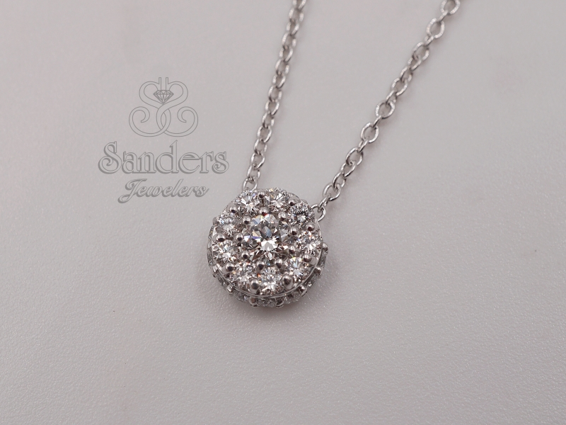 Pendants & Necklaces - Nickel Free Diamond Cluster Necklace