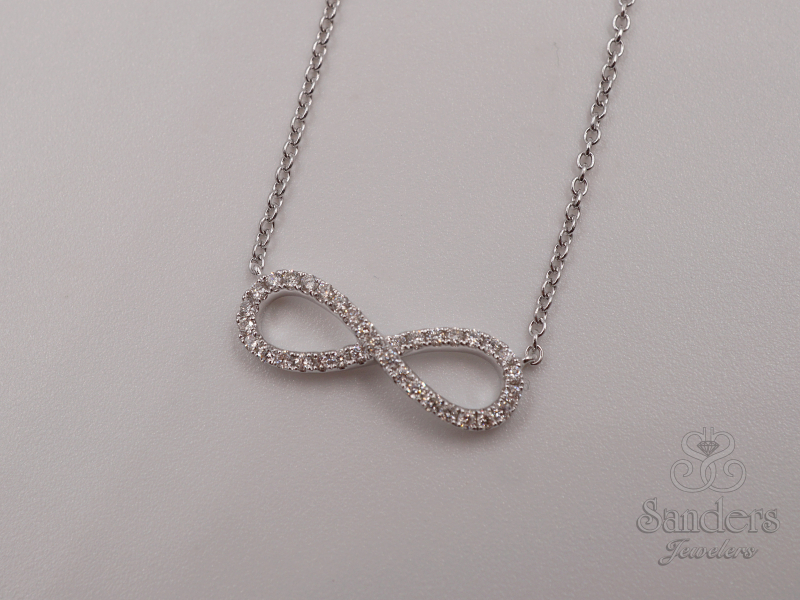 Pendants & Necklaces - Diamond Infinity Pendant - image #2
